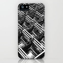 Rebar On Rebar - Industrial Abstract iPhone Case