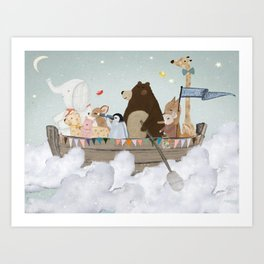 cloud sailers Art Print