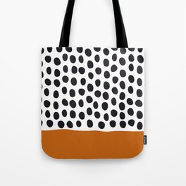 Classy Handpainted Polka Dots with Autumn Maple Tote Bag