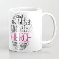 fierce Mugs featuring FIERCE by Lex Bleile