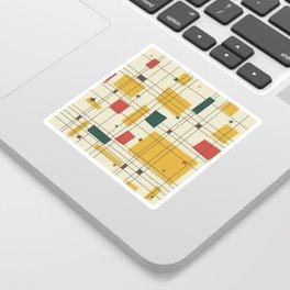 Mid-Century Modern (gold) Sticker