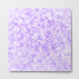 Ultra Violet & Lavender Pearls of Light Metal Print