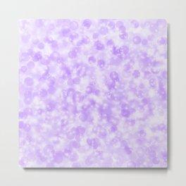 Ultra Violet & Lavender Pearls of Light Metal Print