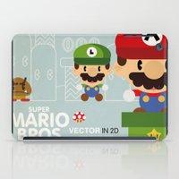 mario bros iPad Cases featuring mario bros 2 fan art by danvinci