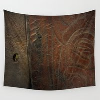 leather Wall Tapestries featuring Aged Leather by Dorothy Pinder
