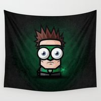 green lantern Wall Tapestries featuring Green Lantern Animation by Thorin