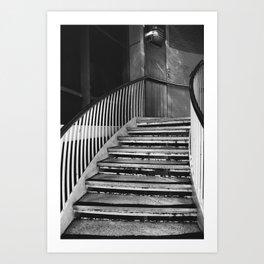 Urban stairs Art Print