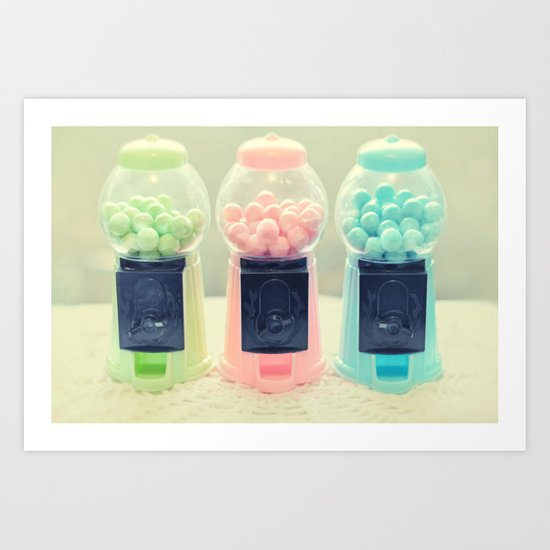 Bubble Gum Art Print