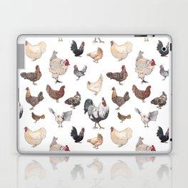 Chicken Happy (white) Laptop & iPad Skin