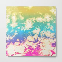 Rainbow Splatter - Tie-Dye Textile Metal Print