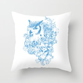 THE OBSCURE OWL Throw Pillow