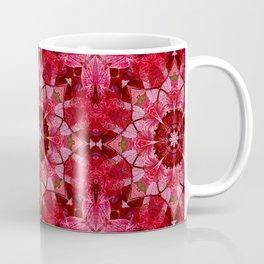 Red autumn leaves kaleidoscope - Cranberrybush Viburnum Coffee Mug