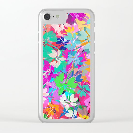 Floral abstract(47). Clear iPhone Case
