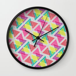 Let's Celebrate The Triangle Wall Clock