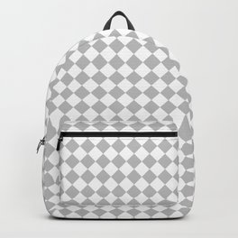 White and Gray Diamonds Backpack