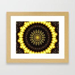 Sunflower Manipulation 2 Framed Art Print