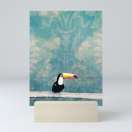 toucano tropical blue Mini Art Print