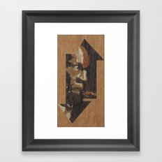 One up One Down Framed Art Print