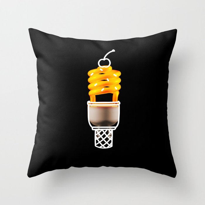 Lightly Flavored Throw Pillow