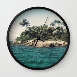 Lost Paradise Off the Coast of Ilha Grande, Brazil Wall Clock