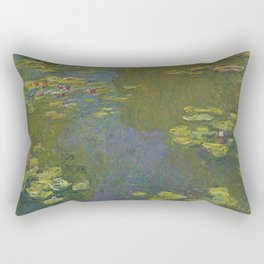 Claude Monet - Water Lily Pond 1919 Rectangular Pillow