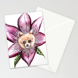 Pomeranian Clematis Stationery Cards