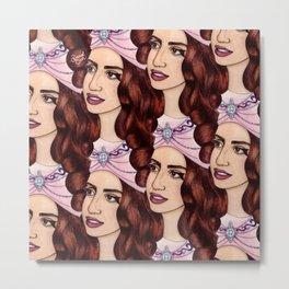 Tessellated Lady G Metal Print