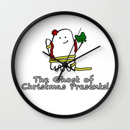 The Ghost of Christmas Presents Wall Clock