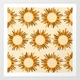 Art Deco Starburst Art Print