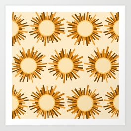 Art Deco Starburst Art Print