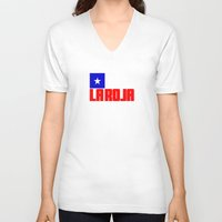chile V-neck T-shirts featuring Chile by Skiller Moves
