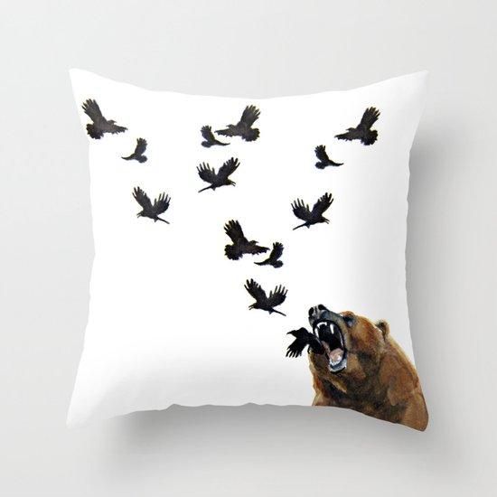 Sacred Outrage Throw Pillow