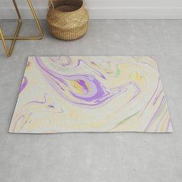 Modern pastel lavender purple yellow marble pattern Rug