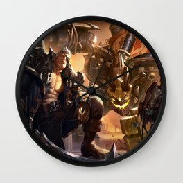 Rogue Admiral Garen Corsair Quinn Sea Hunter Aatrox Ironside Malphite Splash Art League of Legends Wall Clock
