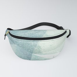 Frozen Geometry - Teal & Turquoise Fanny Pack