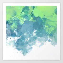 Watercolor Splash Abstract Art Print
