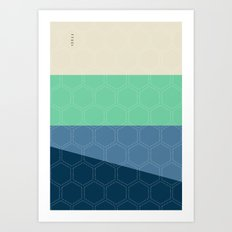 Geo Block No. 3 Art Print