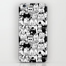 Itty Bitty Kitty Committee iPhone Skin