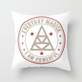 I Am Powerful activated magickal sigil tshirt gift Throw Pillow