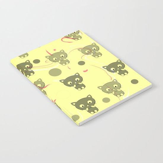 Cute happy kittens Notebook