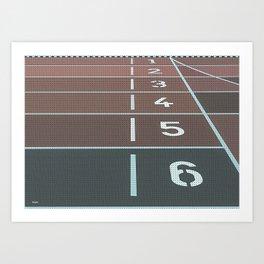 Running Tracks Art Print