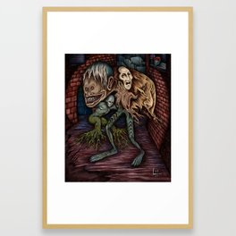 """""""Creatures of the Night On Dark Streets"""" - Painting By Landon Huber Framed Art Print"""