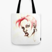 rebel Tote Bags featuring rebel by cistus skamberji
