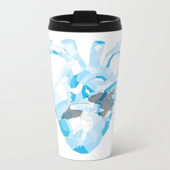 Heart Of Glass Metal Travel Mug
