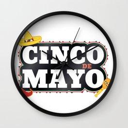 Cinco De Mayo Mexican Party Cinco De Mayo Costume Wall Clock