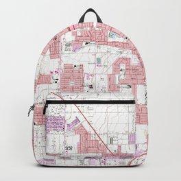 Vintage Map of Las Vegas Nevada (1967) 3 Backpack