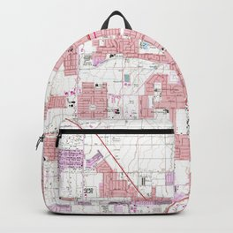 Vintage Map of Las Vegas Nevada (1967) 3 Backpack