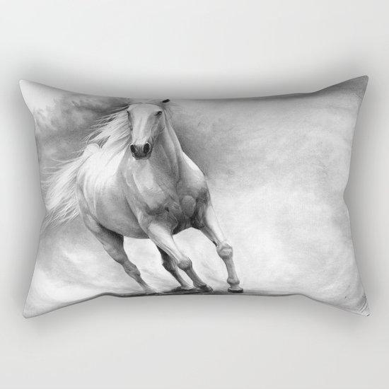 Horse GRAPHITE DRAWING II. Rectangular Pillow