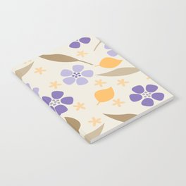 Abstract Violets Notebook