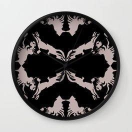 wolf eclipse Wall Clock